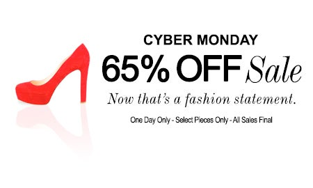 Cyber Monday: 65% Off Sale