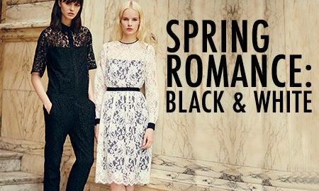 Spring Romance: Black & White