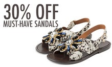 30% Off Must-Have Sandals