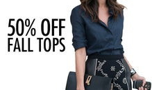 50% Off Fall Tops