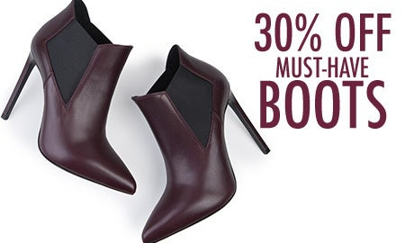 30% Off Must-Have Boots