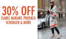 30% Off Isabel Marant, Proenza Schouler & More