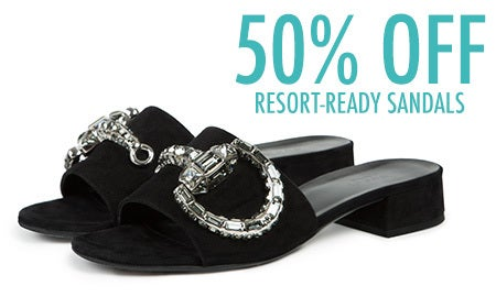 50% Off Resort-Ready Sandals