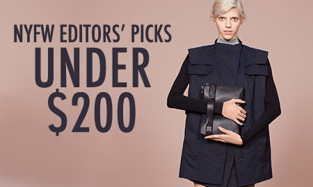 Under $200: NYFW Editors' Picks