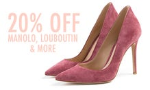 20% Off Manolos, Louboutins & More