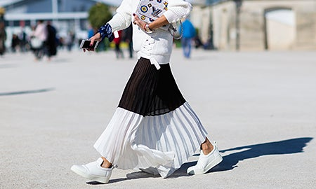 Seen On The Street: Pleated Perfection