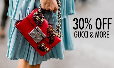 30% Off Gucci, Prada & More