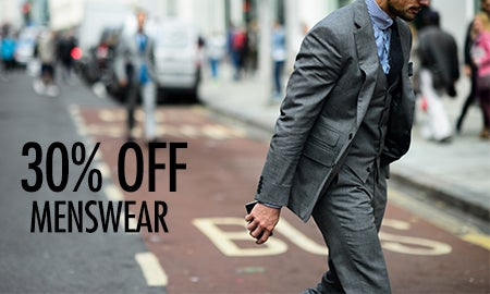 30% Off Menswear