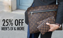 25% Off Men's LV, Gucci & More