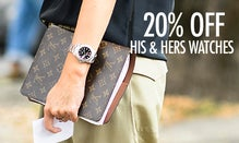 Time Off: 20% Off His & Hers Watches