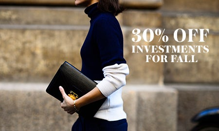 30% Off What To Invest In For Fall